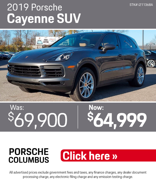 2019 Porsche Cayenne SUV Pre-Owned Special in Columbus, OH