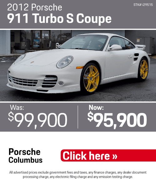 2012 911 Turbo S Coupe Pre-Owned Special in Columbus, OH