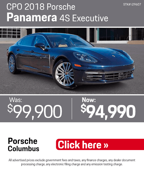 2018 Porsche Panamera 4S Executive Pre-Owned Special in Columbus, OH