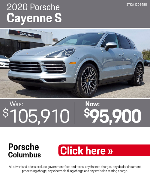 2020 Porsche Cayenne S Pre-Owned Special in Columbus, OH