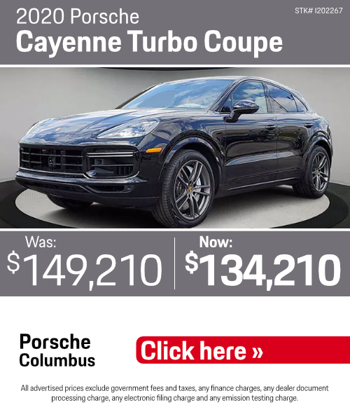 2020 Porsche Cayenne Turbo Coupe Pre-Owned Special in Columbus, OH