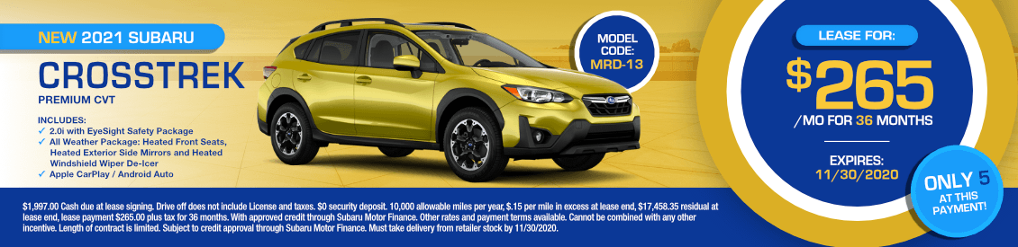 2021 Subaru Crosstrek Premium Lease Special in Shingle Springs, CA