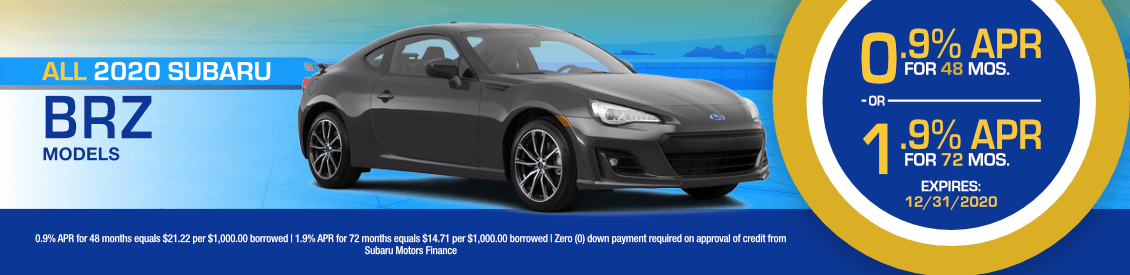 All 2020 Subaru BRZ Models Financing Special in Shingle Springs, CA