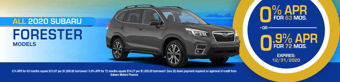 All 2020 Subaru Forester Models Financing Special in Shingle Springs, CA