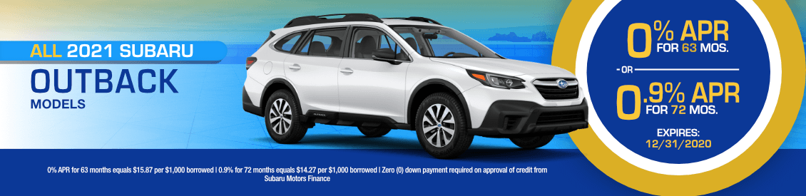 All 2021 Subaru Outback Models Financing Special in Shingle Springs, CA