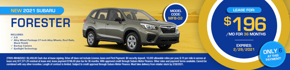 2021 Subaru Forester Lease Special in Shingle Springs, CA