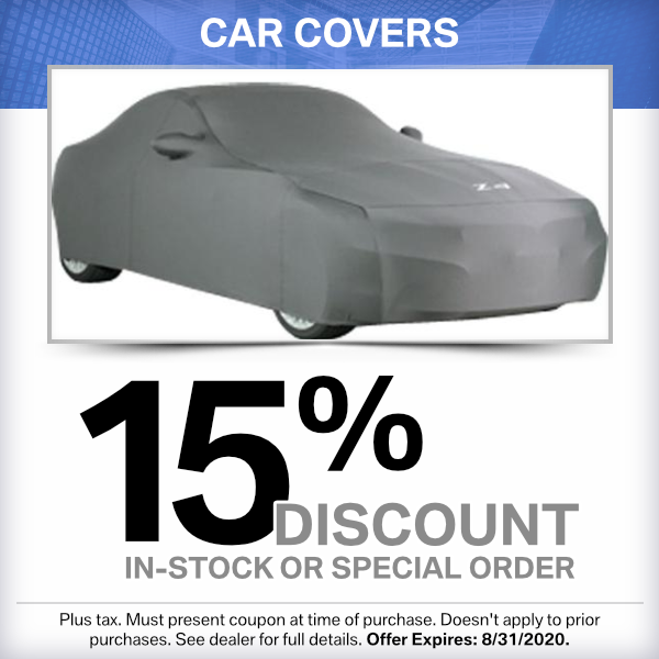 Car covers 15% discount parts special in Torrance, CA