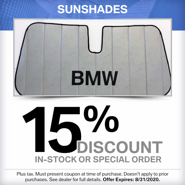 Sunshades 15% discount parts special in Torrance, CA