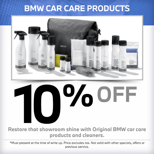 BMW Car Care Products Service Special