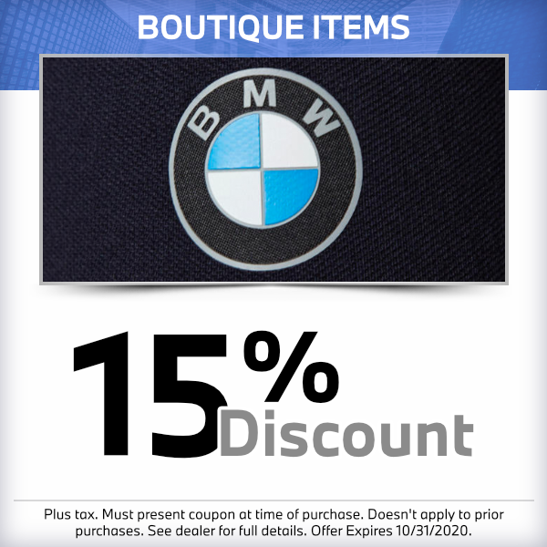15% discount on boutique itemsparts special in Torrance, CA