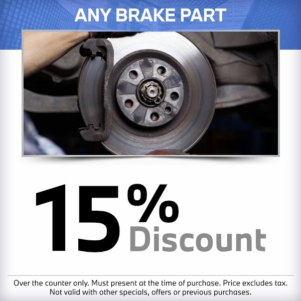 15% discount on any brake partat South Bay BMW