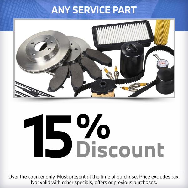 15% discountonany service partat South Bay BMW