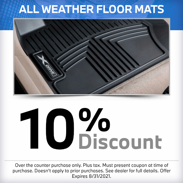 10% Discount on All Weather Floor Mats at South Bay BMW