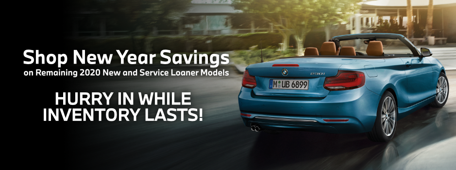 New Year Savings on Remaining 2020 Service Loaners