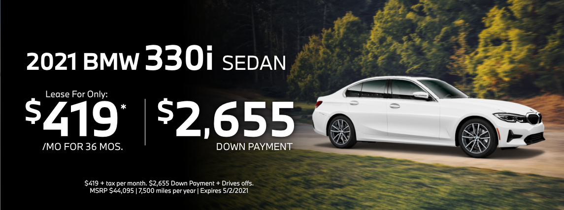 2021 BMW 330i Sedan Special Lease Savings in Torrance, CA