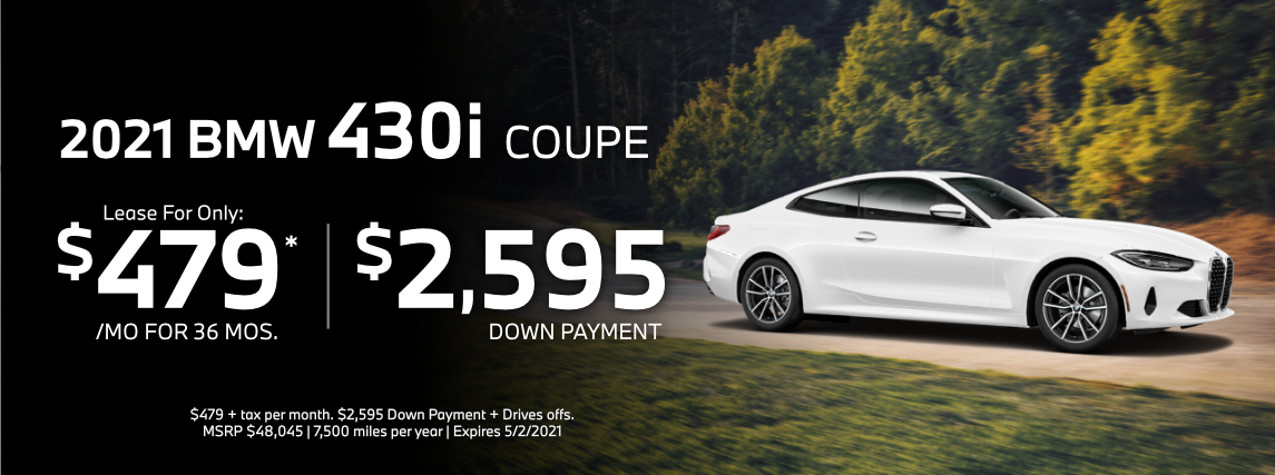 2021 BMW 430i Coupe Special Lease Savings in Torrance, CA