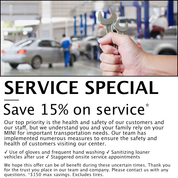 SAVE 15% ON SERVICEService Special