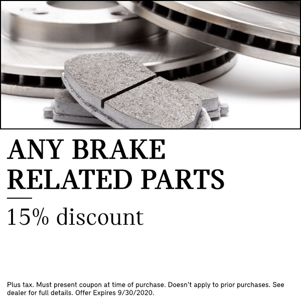 15% Discount on Any Brake Related Parts