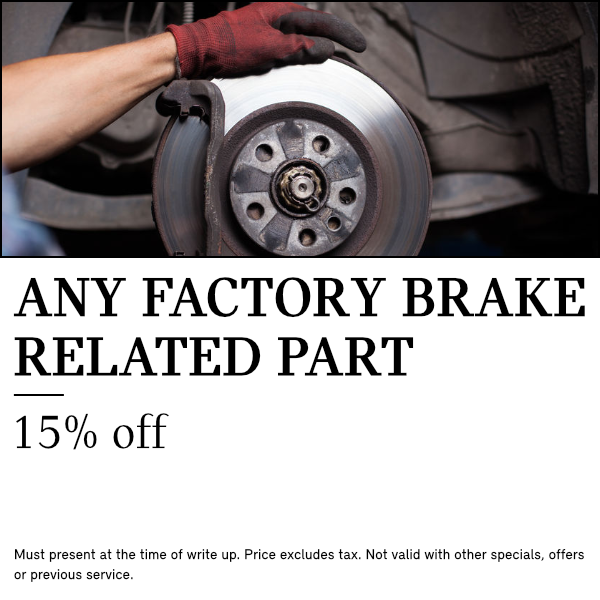 Save 15% On Any Factory Brake Parts