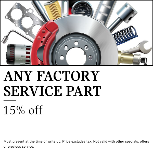 Save 15% On Any Factory Service Part