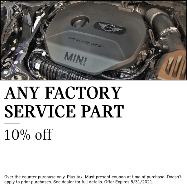 10% OFF MSRP on any factory service part