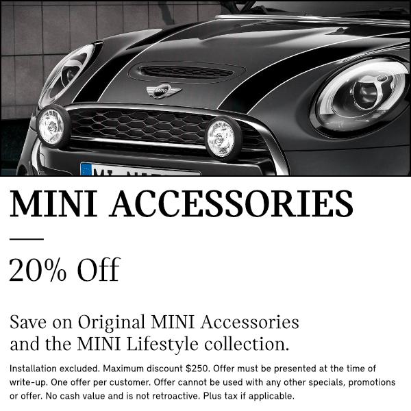 20% Off MINI ACCESSORIES