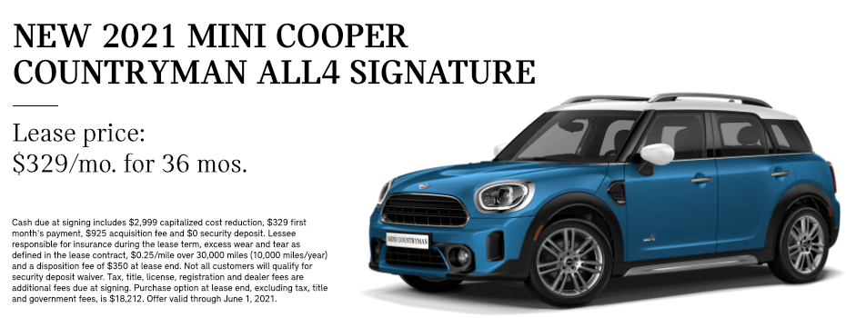 LEASE A 2021 MINI COOPER COUNTRYMAN ALL4 in Torrance, CA