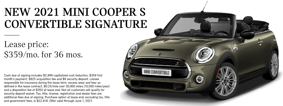 LEASE A 2021 MINI COOPER S CONVERTIBLE Signature in Torrance, CA