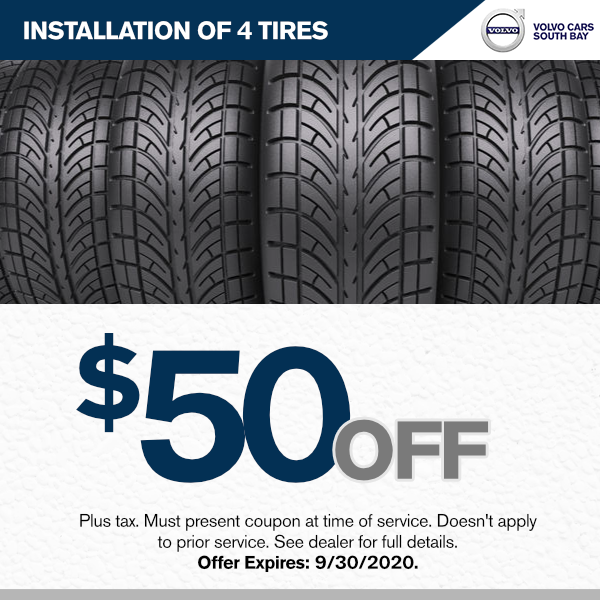 $50.00 off the installation of 4 tires