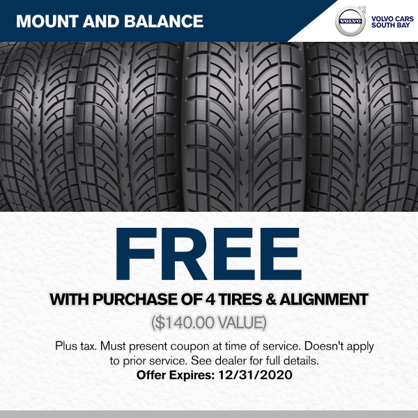 Free installation on purchase of 4 tires and alignment