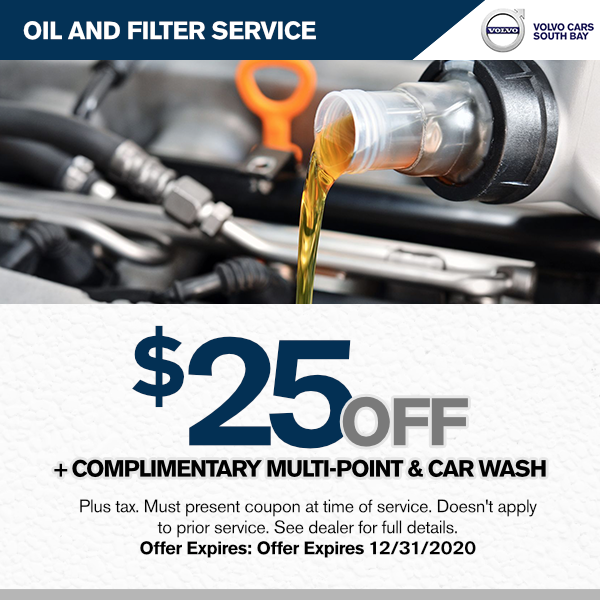 $25.00 off oil and filter service, with complimentary Multi-point and car wash.