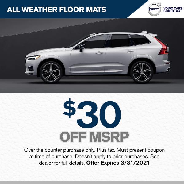 $30.00 off MSRP  - All weather floor matsparts special in Torrance, CA