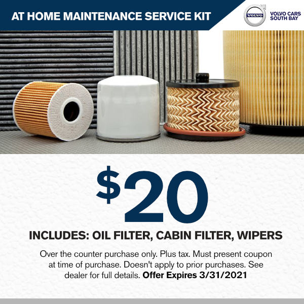 At home Maintenance service kit: Includes Oil filter, cabin filter, wipersparts special in Torrance, CA