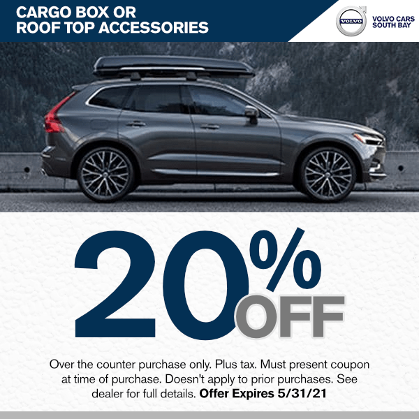 20% off Cargo box or roof top accessories