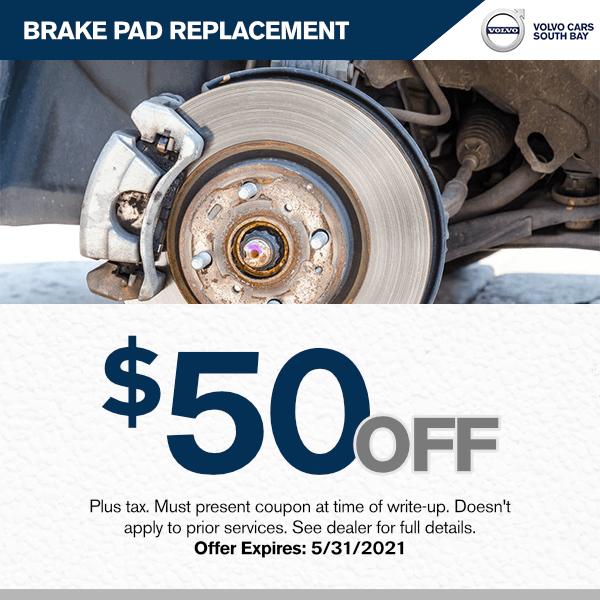 $50.00 off brake pad replacement