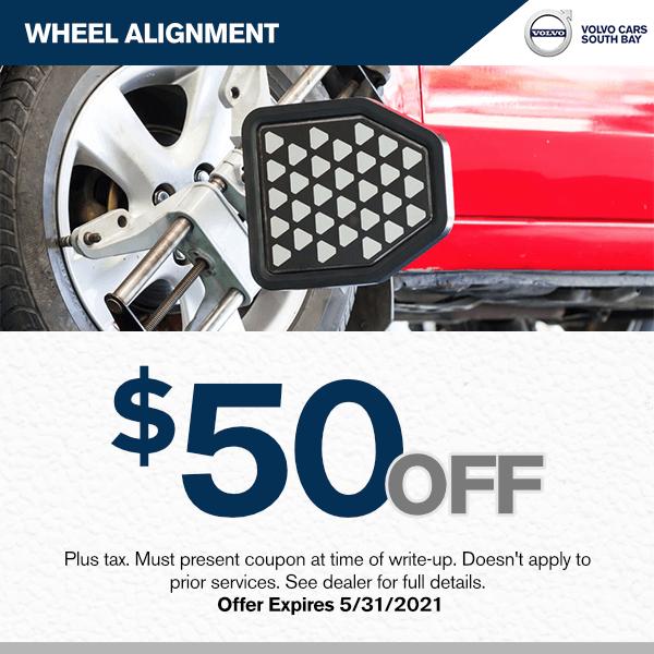 $50.00 off wheel alignment