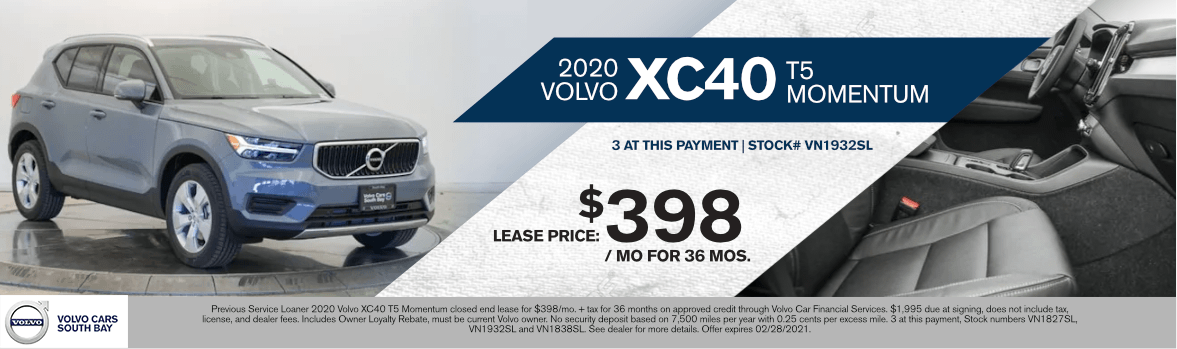 2020 Volvo XC40 T5 Momentum Special Lease Savings in Torrance, CA