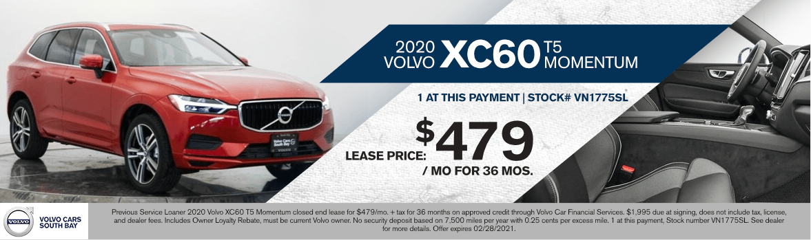 2020 Volvo XC60 T5 Momentum Special Lease Savings in Torrance, CA