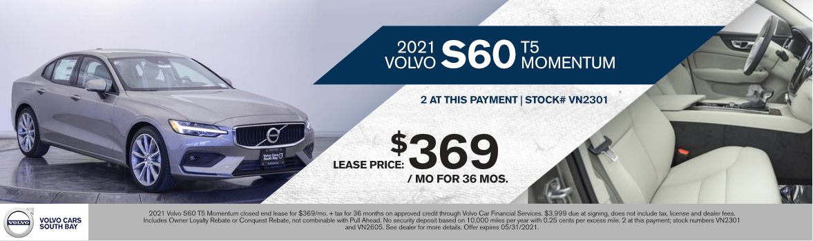2021 Volvo S60 T5 Momentum Special Lease Savings in Torrance, CA