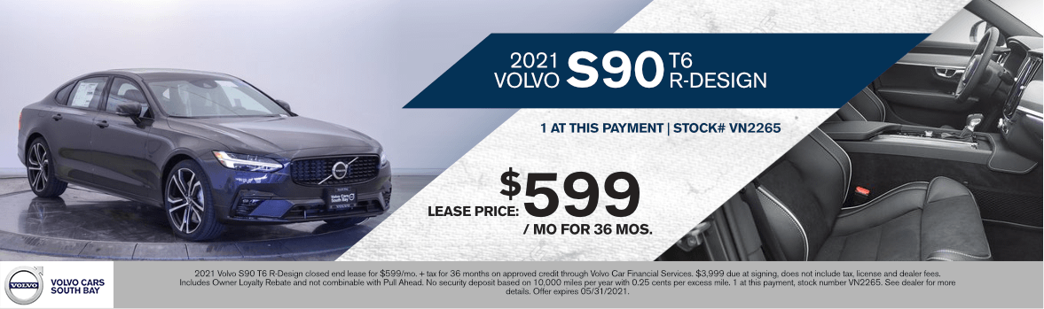 2021 Volvo S90 T6 R-Design Special Lease Savings in Torrance, CA
