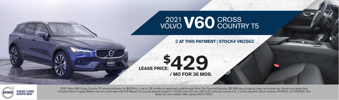 2021 Volvo V60 Cross Country T5 Special Lease Savings in Torrance, CA