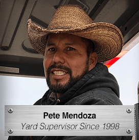 Pete Mendoza - Yard Supervisor