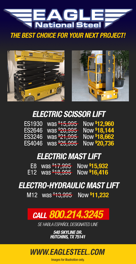 Electric Scissor & Mast Lifts at Eagle National Steel