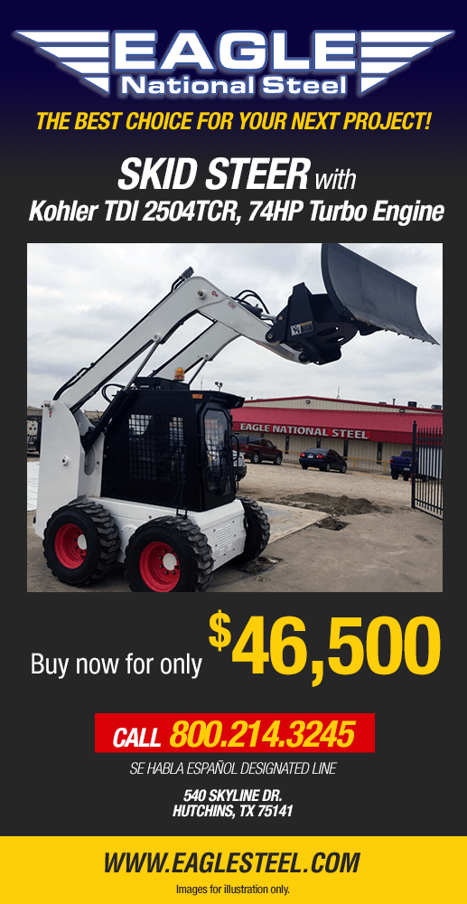 Buy Your Skid Steer from the professionals at Eagle National Steel