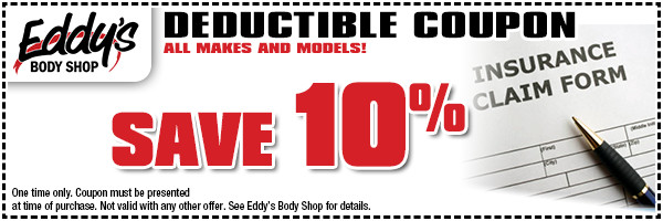Eddy's Body Shop Insurance Deductible Special in Wichita, KS
