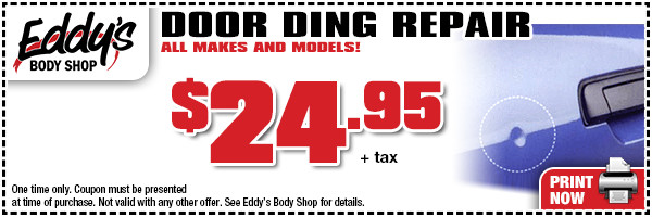 Click to Print Our Eddy's Body Shop Door Ding Repair Special in Wichita, KS
