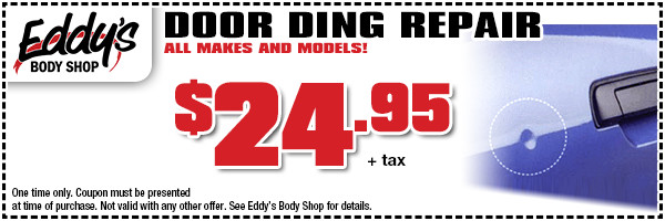 Eddy's Body Shop Door Ding Repair Special in Wichita, KS