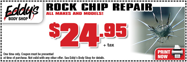 Click to Print Our Eddy's Body Shop Rock Chip Repair Special in Wichita, KS