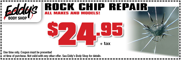 Eddy's Body Shop Rock Chip Repair Special in Wichita, KS