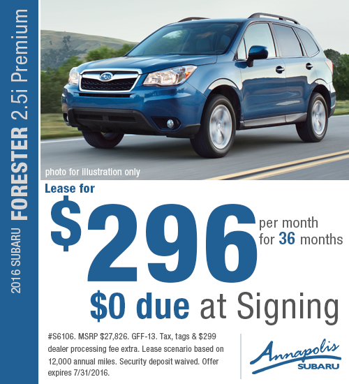 2016 Subaru Forester 2.5i Premium Low APR Lease Special in Annapolis, MD